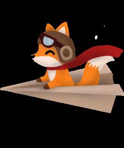 Flying Fox Sticker Design