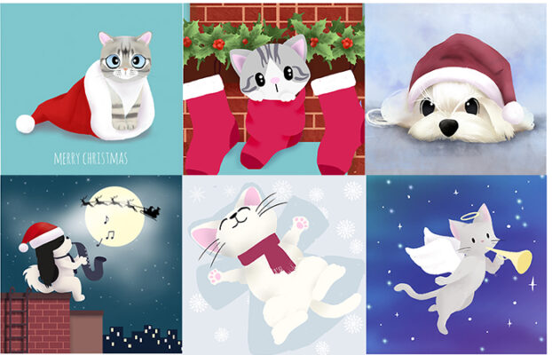 Christmas Greeting Card Set of 12