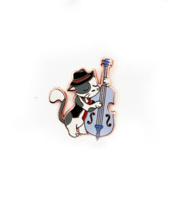 Jazz Kitties - Double Bass - Enamel Pin