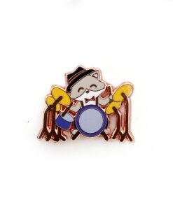 Jazz Kitties - Drums - Enamel Pin