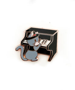 Jazz Kitties - Piano - Enamel Pin